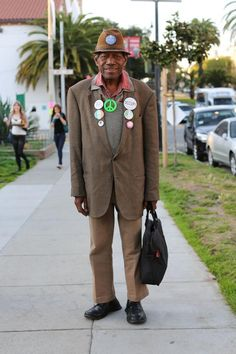 """""""People see my buttons and think I'm a radical, but I just stand for peace! Except North Korea. We should handle them."""""""