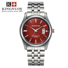 Features and specifications: Dial - Shape: Round - Movement type: Quartz - Display type: Pointer - Pointer color: Silver - Dial color: Black, white, brown, blue Band - Material: Stainless Steel/leather - Clasp type: Folding clasp - Band color: Silver/black, brown Watch - Length: approx. 240 mm - Dial diameter: approx. 40.5 mm - Dial thickness: approx. 9 mm - Weight: approx. 90 g Package : 1 x watch Mens Sport Watches, Luxury Watches For Men, Stylish Watches, Cartier, Top Luxury Brands, Moda Casual, Bracelet Cuir, Gifts For Your Boyfriend, Quartz Watch
