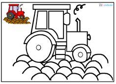 Omalovánka, traktor, pole, brambory, předškoláci Kids Rugs, Education, Pulley, Mosaic Art, Tractor, Carnavals, Kid Friendly Rugs, Onderwijs, Learning