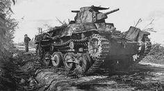 World War II -The Japanese Type 95 Ha-Go was a light tank. It had a 37mm main gun.