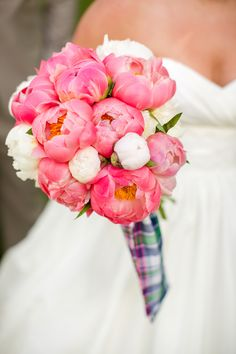 pink peony bouquet | Katelyn James #wedding