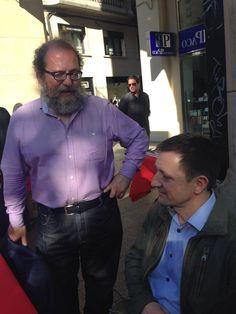 Chesús Yuste e Ignacio Martínez de Pisón