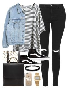 """Outfit for autumn with a faux leather backpack"" by ferned on Polyvore featuring Topshop, Vans, Forever 21, ASOS, Casetify and American Apparel #grungeoutfits"