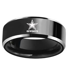 Green Bay Packers Black Tungsten Wedding Band Comfort Fit Male Special National Football League Sport Ring Size 7 to 13