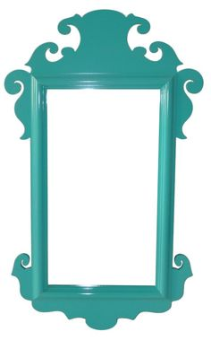 From Oomph - charleston mirror. Again, really expensive to buy, but this is just scrolled wood attached behind a fairly plain rectangular mirror and all painted the same color.