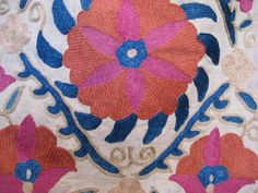 Detail of my suzani, turkish embroidery