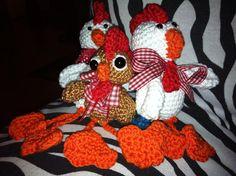 Gockel mit Hühnern