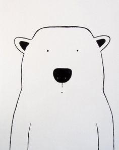 Modern Kids and Nursery Polar Bear Art Original Painting - x on regular depth canvas - The Polar Bear Mehr Art Original, Original Paintings, Motifs Animal, Bear Art, Modern Kids, Nursery Art, Project Nursery, Nursery Ideas, Cute Illustration