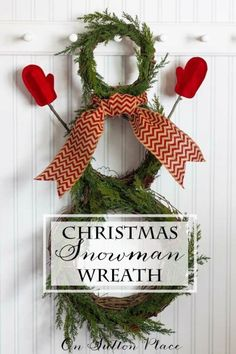 Festive Christmas Wreath Ideas | DIY tips and inspiration for 4 different wreaths from On Sutton Place | DIY Snowman Wreath #Sponsored