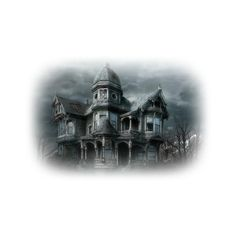 CREEPY HOUSE MDZ MIST.png ❤ liked on Polyvore featuring halloween, buildings and tubes