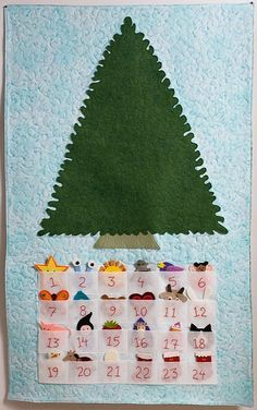 advent ... this is what i can do to use the felt xmas things i made for an advent calendar no longer in use ... yah