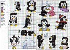 Cross-stitch Penguins...   http://media-cache-ak1.pinimg.com/originals/17/9c/eb/179ceb2acbd81338aba01f0e80c3b62b.jpg