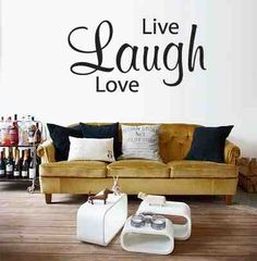 Muursticker Live Laugh Love | Interieur Inspiratie
