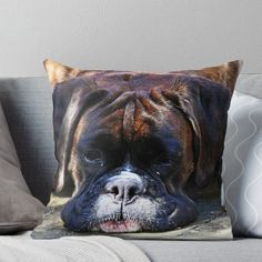 'Such is Life -Boxer Dogs Series-' Throw Pillow by Evita Boxer Dogs Facts, Boxer Puppies, Dog Facts, Dogs And Puppies, Doggies, Boxers, Beautiful Dogs, Animals Beautiful, I Love Dogs
