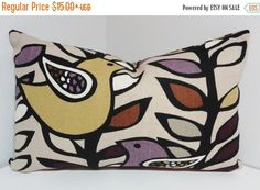 ON SALE Richloom Purple Plum Gold Bird Decorative by HomeLiving