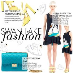 Swan lake fashion by thequeenstore on Polyvore featuring moda, Viktor & Rolf and Design Inverso