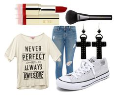 """""""my first draft"""" by fashiondiva-pbc ❤ liked on Polyvore featuring Frame Denim, Wet Seal, Converse, Tarina Tarantino and Gucci"""