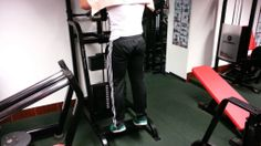 Standing Calf Raise Using Machine