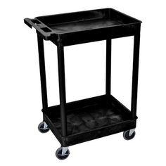 Offex 2 Shelf Tub Utility Cart Finish: Black