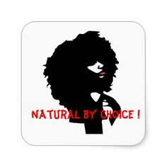 Afro chic sticker natural by choice custumizable