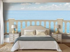 schlafzimmer natur meer fototapete