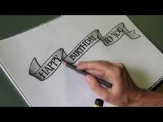 How to draw an easy 'flowing ribbon' shape for your letters - YouTube