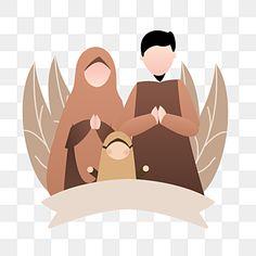 Cartoon Background, Paint Background, Free Vector Graphics, Vector Art, Eid Envelopes, Islamic Cartoon, Cute Muslim Couples, Muslim Family, Anime Muslim