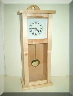 Shaker wall or mantel clock