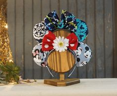 Double Headband Display mouse ears  holder mouse by GFTWoodcraft