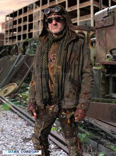 Post Apocalyptic Mad Max style LARP costume. Mark Cordory Creations. www.markcordory.com