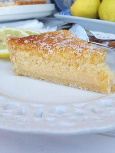 tarta de coco y limón