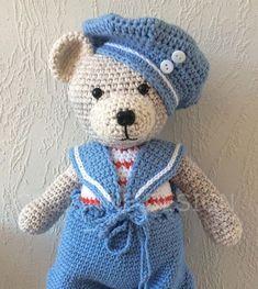 pinterest Crochet Teddy, Crochet Bear, Crochet For Kids, Crochet Dolls, Easy Crochet, Toys For Tots, Teddy Bears, Patterns, Knitting