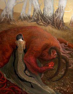 The scarlet flower by Oksana Fomin