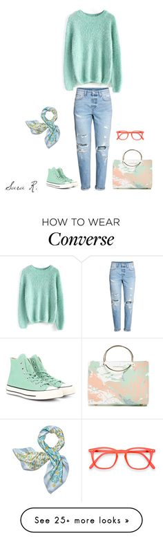 """""""Sara Rodríguez Arias"""" by sara-rodriguez-arias on Polyvore featuring Future Glory Co., Chicwish, H&M, Converse, Izipizi and Tory Burch"""