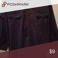 Men's black shirt size XL Button down pocketed good condition Shirts Casual Button Down Shirts