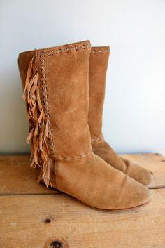 leather fringe boots