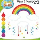 You will 14 clipart graphics that were hand drawn by myself – 6 Single Rainbow Raindrops, 2 Single Clouds, 2 Blue Raindrop Bundles, 2 Rainbow Raind...