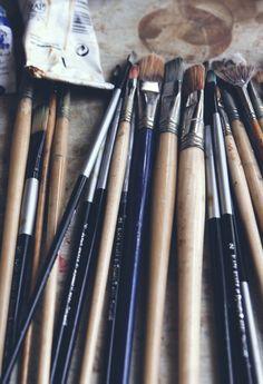 Artist paint brushes.