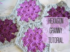 Here is a tutorial on how to crochet the hexagon granny. It is a very easy but effective shape which looks lovely as a blanket! Written instructions: http://...