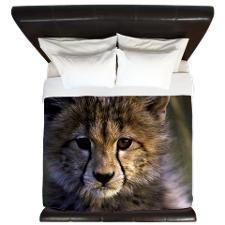 Cheetah cub King Duvet