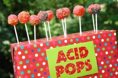 Make everyone feel like they are living out their book dreams by serving Acid pops. | 29 Essentials For Throwing The Perfect Harry Potter Party