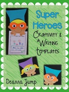 Super Hero Craftivity and Writing Templates by Deanna Jump Superhero Classroom Theme, Classroom Crafts, Classroom Themes, Superhero School, Kindergarten Writing, Teaching Writing, Teaching Ideas, Literacy, Second Grade Writing