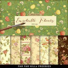 New Freebies Kit of Backgrounds - Ensoleillé Fleurs | Far Far Hill | Bloglovin'