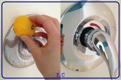 Dica de limpeza: Passar limão para tirar as manchas de água