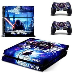 Star Wars Battle FrontDesigner Skin for Sony PlayStation 4 Console System plus Two2 Decals for PS4 Dualshock Controller Playstation 4 Console Skin  Remote Controllers Skin *** Details can be found by clicking on the image.Note:It is affiliate link to Amazon.