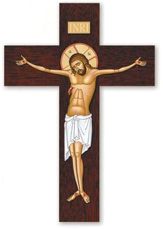 Shop Monastery Icons today for fine icon crucifixes and wall crosses, such as this InRi Crucifix. Religious Images, Religious Icons, Religious Art, Monastery Icons, Roman Church, Catholic Pictures, Medieval Paintings, Religion Catolica, The Cross Of Christ
