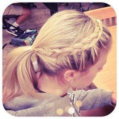 braid with ponytail