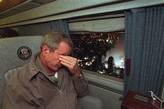 September 11, 2001: President Bush's reaction as he flew over Ground Zero.