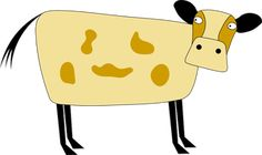 Vector drawing of a cow. Cartoon Cow, Cartoon Images, Free Pictures, Free Images, Cow Clipart, Vector Free, Sunglasses Case, Clip Art, Scrapbook