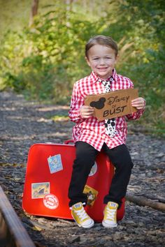 """Our """"going to Disney"""" Birthday photo shoot. Disney or Bust! Birthday Photos, 3rd Birthday, Disney World Birthday, Disney Ideas, Disney Trips, Photo Shoot, Christmas Sweaters, Anniversary Pictures, 3 Year Olds"""